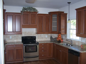 solid countertops in kitchen